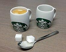 Starbucks Espresso Tasse - 3 fl oz / 89 ml - 2 Stück Becher - Porzellan-Kaffeebecher mit Sirenenlogo