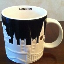 Starbucks Kaffee-/ Tee Ttasse, Tasse Becher Tumbler London-Motiv mit Icon Big Ben, London Eye, Skyline, rot Telefonzelle, ST PAUL 'S CATHEDRAL St Paul's Cathedral, 16oz/4 450 ml, (Listing ist für 1 Tasse)