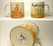 Starbucks Kaffeebecher Kaffee City Mug Tee Tasse Becher Icon Series Katowice Kattowitz Polen Poland