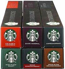 Starbucks Nespresso Komplett Set, Röstkaffee,