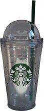 Starbucks Tumbler Becher Classic Swirl Top Cold to