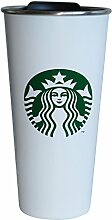 Starbucks Tumbler Becher Edelstahl weiss 16oz/473ml