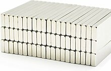 Stark 40mm x 10mm x 3mm NdFeB Neodym Block Bar Magnete N35Grade, 100pcs