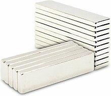 Starke 56mm x 8mm x 3mm Neodym Block Bar Magnete N35Grade, 25 Teile