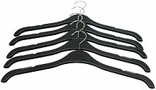 Starke Kunststoff Kleiderbügel mit Kerben–43cm (43,2cm)–alle Zweck, schwarz, 20Stück
