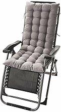 Starke vierte Quartal Liegestühle Matte Kissen Schaukelstuhl Polster Mittagspause rattan Stuhl Kissen 125 * 45 * 8 cm, grau