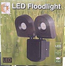 Starlux LED Außenwandleuchte / Außenleuchte / Lampe IP54 (Floodlight 2x10W)