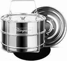 Starpuxx Stapelbare Dampfgarer-Einsatzpfannen –