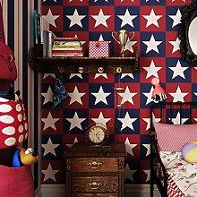 Stars Stripes Hintergrund der Kinder Zimmer Schlafzimmer Tapeten-A