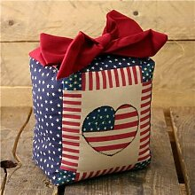 Stars und Stripes Cube Türstopper, der amerikanischen Flagge Thema Türstopper