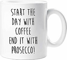 Start The Day With Kaffee Ende es mit Prosecco