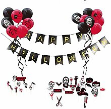 starter Halloween-Ballon-Set - 48pcs Zombie Party