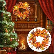 Starter Weihnachtskranz - Herbst Blätter Kranz