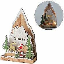 starter Weihnachtsschmuck, Holz Leuchtende