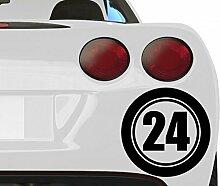 Startnummer 1 ... 99 Aufkleber Auto & Motorrad