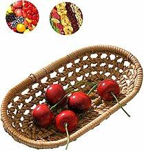 Startseite Kirsche Obst Ablagekorb Ablage, Rattan