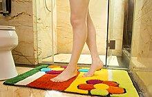 Startseite Türmatten Fußmatte Spülbeckens im Eingangs Kinder Badezimmer mit Bad Wasseraufnahme Schlafzimmer-Fuss-Auflage ( größe : 50x80cm )
