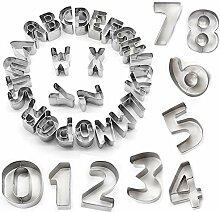 STARUBY 34er Set Ausstechformen Buchstaben Zahlen