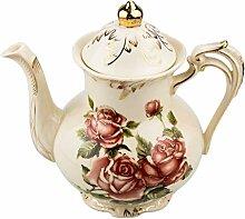 Starvast Keramik-Teekanne, Blumenmuster,