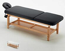 Stationäre Profi-Massageliege Holz 2 Zonen 225 cm