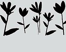 Statische Fensterfolie Milchglasfolie Blumen