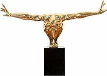 Statue ATHLET 75 cm gold Turner Dekofigur Sportler Dekoration Accessoires