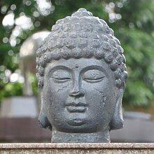 Statue Buddha Kopf Garten Living