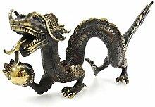 Statue Dragon aus Asien in Bronze. Déco Chinesische Asiatische.