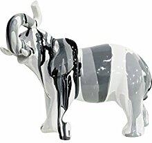 Statue Elefant schwarz weiß Dekoration–Design Moderne Zeitgenössische