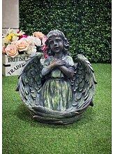 Statue Engel Gebet Garten Living