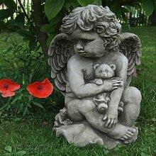 Statue Engel mit Teddy Painter Garten Living