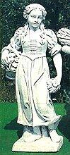 Statue Frühling, H 117, Steinfigur, Gartenfigur Farbe weissgrau
