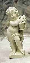 Statue Frühling, H 60, Steinfigur, Gartenfigur Farbe antikfinish