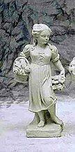 Statue Frühling, H 75, Steinfigur, Gartenfigur Farbe weissgrau