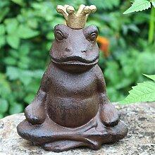 Statue Gartendekorationen Frosch Gusseisen Dekor