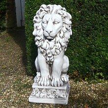 Statue Kleiner Löwe Garten Living