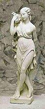 Statue mit Trauben, H 140, Steinfigur, Gartenfigur Farbe sandstein