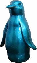 Statue Pinguin Blau Dekoration–Design Moderne Zeitgenössische
