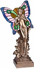 Statue Schüchterne Schmetterlingsfee Tiffany-Stil