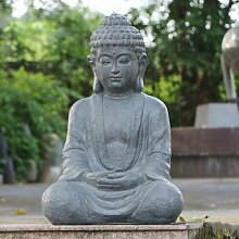 Statue Sitzender Buddha Garten Living