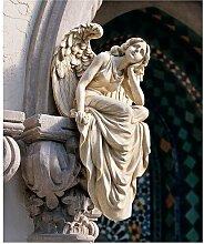 Statue Sitzender Engel Design Toscano