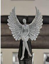 Statue Sitzender Engel mit Mosaikflügeln Willa