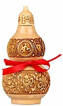 Statuen Feng Shui Chinese Peach Holz Gourd Chinese