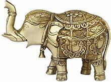 StatueStudio Messing Skulptur Elefant Indien Figur