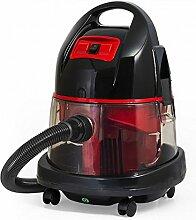 Staubsauger mit Wasserfilter beutellos Wasserstaubsauger Nass und Trocken Boden Staubsauger 2.400 Watt (Rot)