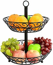 Staunchow 2-stufiger Obst Etagere,