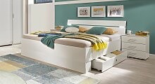Stauraum-Bett Kiraly, 180x200 cm, weiß