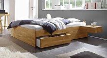 Stauraum-Bett Manchester, 120x200 cm, Kernbuche