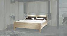 Stauraum-Bett Palena, 140x200 cm, Esche hell