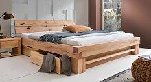 Stauraum-Bett Sowa, 140x200 cm, Wildbuche natur